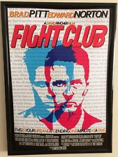 Fight Club Brad Pitt Movie Framed Poster Print A4 260gsm