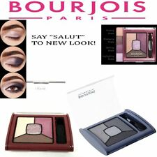 100% Genuine Bourjois Paris Smoky Stories Quad  Eyeshadow Palette with Brush