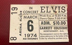 Elvis Presley Concert Ticket Stub Montgomery  Alabama 1974