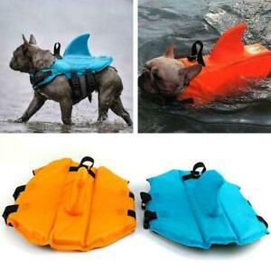 Dog Life Vest Summer Shark Pet Life Jacket Dog Clothes Pets Swim Swimwear H2R1