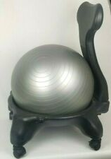 Yoga Ball Stability Balance Chair Exercise Sport Training Back Fitness Workout
