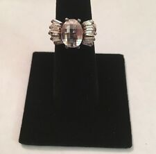 Vintage 925 Sterling Silver Ring, Topaz Stone, Size 6