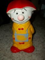 "Vintage 11"" Hard Plastic Cartoon Figure Bank No Stopper"