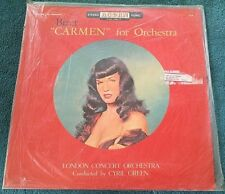"""Bizet """"Carmen"""" for Orchestra LP (Acorn) w/Betty Page cover VG"""