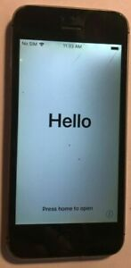 [BROKEN] Apple iPhone 5s 16GB Black (UKNOWN) A1453 GSM Check Issue Used Locked