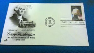 Scott. #1952 20 cent stamp honoring  George Washington  first day issue