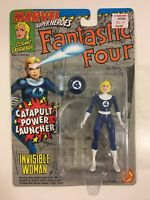 Invisible Woman w/ Catapult Power Launcher- Marvel Super Heroes ToyBiz 1994 MOC