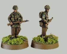 Tqd Pp6B 20mm Diecast Wwii Marching Polish Paras- Helmets. 4 Identical Figures