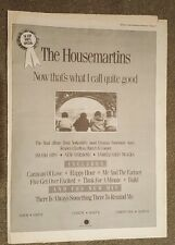 The Housemartins  1988 press advert Full page 30 x 42 cm mini poster