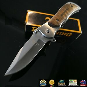 Browning 339 Folding Pocket knife outdoor knives camping Fishing knife au seller