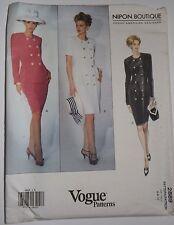 Vogue 2889 Sewing Pattern Nipon Boutique Career Dress~Top~Skirt Sizes 6-8-10 UC