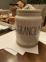 Rae Dunn Granola Canister With Clay Bottom Medium New With Tags