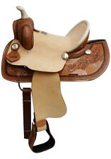 """12"""" Double T  Youth roper style saddle with hard seat"""