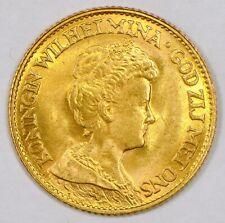 1917 Netherlands 10 Gulden Gold Coin for Wilhelmina I