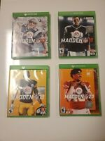 Lot Of Xbox One Madden Games (17,18,19, 20) 4 Total