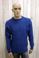 PAUL&SHARK Maglione Uomo Taglia L Casual Lana Sweater Pullover Invernale Pull