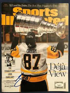 2017 Jun Sports Illustrated Sidney Crosby Signed Autograph Penguins CUP JSA