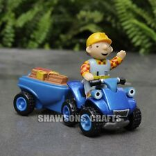 BOB THE BUILDER DIECAST METAL TOYS BOB WITH ATV SCRAMBLER AND TRAILER