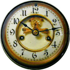 1 inch Crystal Dome Button Steampunk Clock Face #18   FREE US SHIPPING