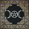 "Goddess Triple Moon Altar Cloth 24"" by 24"" Wicca Pagan"