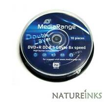 10 x MediaRange Double Couche DVD+R DL De marque 8x ( Azo Teinture )