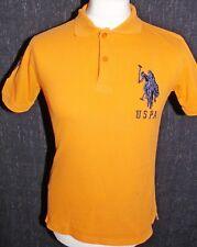 U.S POLO ASSN Mens Orange Polo Shirt Size Small