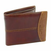 Mens Luxury Soft Quality Leather Wallet Credit Card Holder Purse Brown