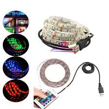 5V RGB LED Strip USB luz de fondo piezas de TV de Cambio de Color + Control Remoto