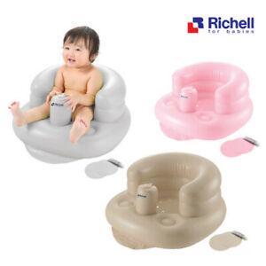 NEW Richell Soft Inflatable Baby Chair Pink Puffy Air Cushion Chair