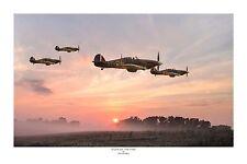 "WWII WW2 RAF Hawker Hurricane Ace Pilot Aviation Art Photo Print - 8"" X 12"""