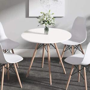 Modern White Cafe Dining Table Round Eiffel Tables Kitchen Wooden Leg DIY