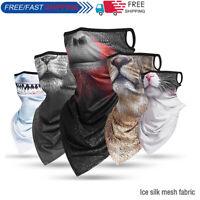 2020 New Ice Silk Headband Face Mask Cover Neck Gaiter Tube Scarf Bandana Shield