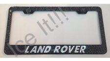 LAND ROVER Stainless Steel license plate frame W Swarovski Crystals