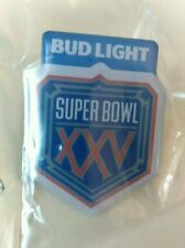 Super Bowl XXV Bud Light Vintage Pins NY Giants vs Bills NFL 1991