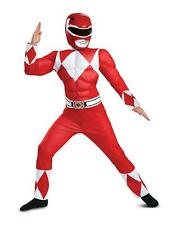 Red Power Ranger Classic Muscle Child Costume Size Small 4-6
