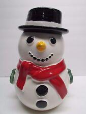 Treasure Craft Snowman Cookie Jar ~  Heavy Solid jar