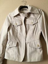 Authentic GUCCI Tan Khaki Dress Casual Jacket Zip Up Button Pockets 40 Small