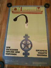 Vintage original russian soviet poster