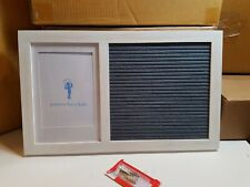 Pottery Barn Kids White Letter Stick Board Picture Photo Frame #2664