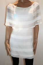 BLOCKOUT Brand White Pleated Off Shoulder Dress Size 8 BNWT #WH08