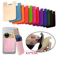 Adhesive Silicone Credit Card Pocket Sticker Pouch Holder Case For Cell Phone CC