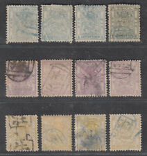 Qing Dynasty China 1885 Small Dragon Stamp 4 kinds of watermarks Complete set