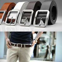 Men's Genuine Leather Dress Belt Casual Pin Buckle Waist Strap Belts WaistbandCN
