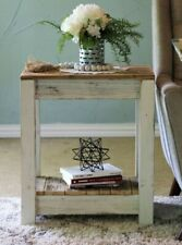 White Combo End Table