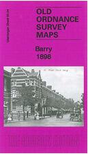 OLD ORDNANCE SURVEY MAP BARRY PONTYPRIDD ROAD MOREL STREET JENNER PARK 1898