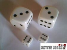 2 LARGE D6 SPOT DICE BOARD GAMES LEARNING D&D 22mm Opaque White, Black or Pearl