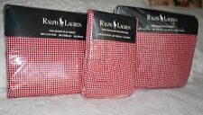 NEW Ralph Lauren Queen Red Gingham Check Sheet Set 4 Pieces Vintage RARE