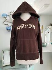 Wet Seal Brown AMSTERDAM hoodie Sweater L