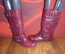*A4* ALDO Rapsberry   leather  slouch   boots  EU 36