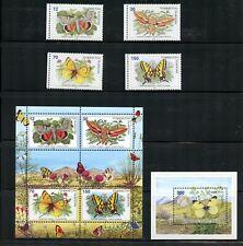W464 Tajikistan 1998 butterflies MNH
